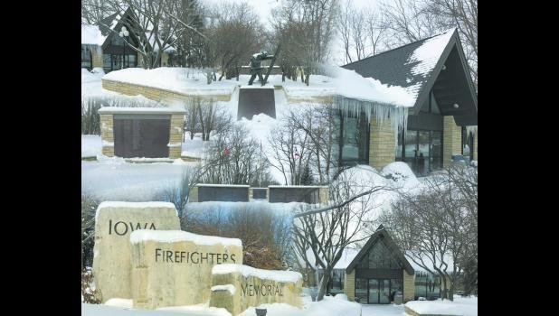 Iowa Firefighters Memorial Winter Collage